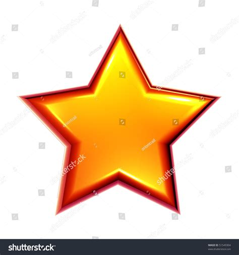 Bright Colored Star On White Background Stock Photo