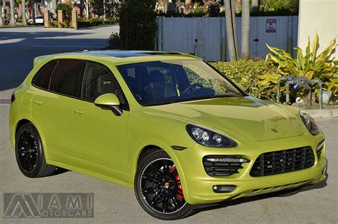 peridot green  porsche cayenne gts rare cars