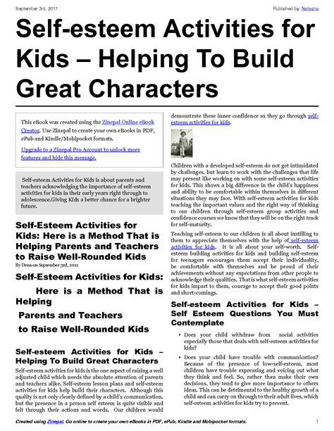 14 Best Images Of Self Awareness Activity Worksheets  Selfesteem Activity Worksheets, Self