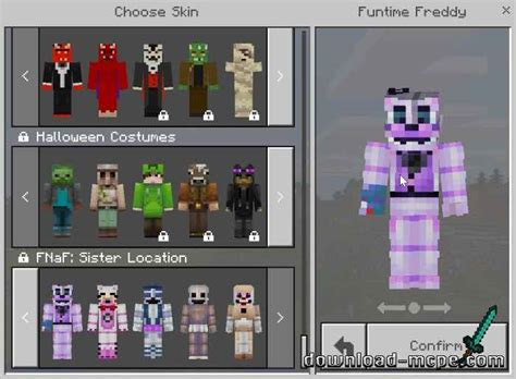 tekstury  nights  freddys sister location skin