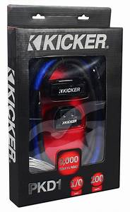 Kicker Pkd1 1  0 Awg Gauge Dual Car Amp Installation Wire