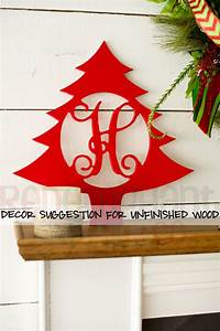 wooden monogram christmas tree home decor letters With wooden letters for christmas tree