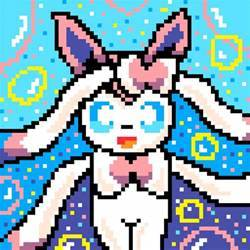 Pixel art Pokemon Sylveon