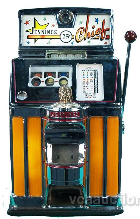 25 Cent Jennings Chief Slot Machine  Lights Up