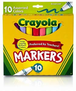 Amazon.com - Crayola Broad Line Markers-Assorted Colors 10 ...
