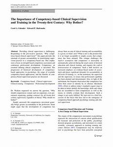 PDF The Importance Of Competency Based Clinical