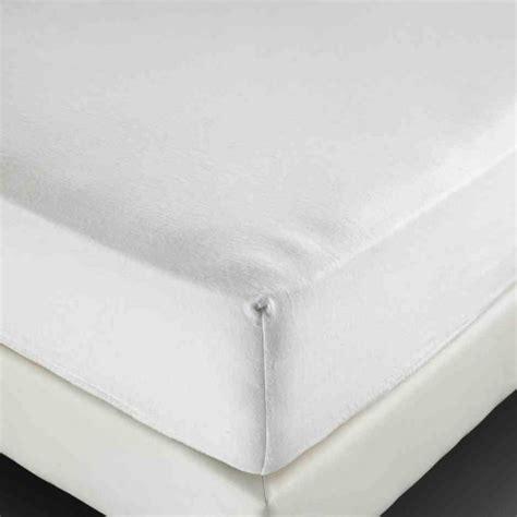 drap housse molleton blanc bonnet de 25 cm 210 g m 178 160x200 cm