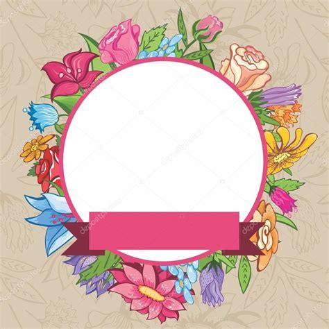 Fotos: etiquetas redondas con flores marco flores