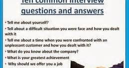 general questions and answers made easy