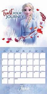 Daily Monthly Calendar Disney Frozen 2 Official Calendar 2020 At Calendar Club