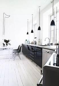 Küchen Ohne Hängeschränke : schwarze k che im skandinavischen stil k che skandinavisch pinterest k che ohne ~ Eleganceandgraceweddings.com Haus und Dekorationen