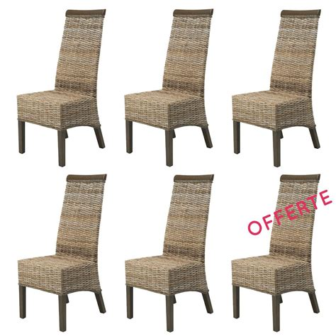 lot chaises lot chaise salle a manger rotin meubles en rotin lot 6