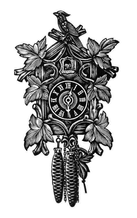 Vintage Cuckoo Clock ~ Free Clip Art | Vintage clock