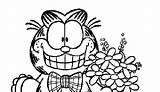 Lasagna Garfield Coloring sketch template
