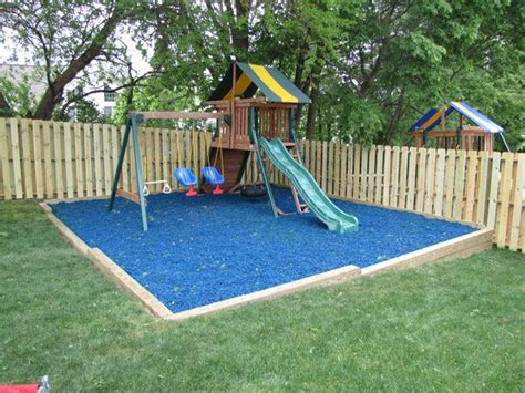 best mulch for playground against a fence the best rubber mulch in bulk for 4577