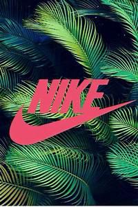 Nike sign - Nike wallpaper - Tropical background - Pink ...