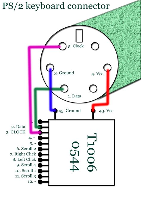 Wiring Diagram For Usb Mouse by Ps2 Mouse To Usb Wiring Diagram
