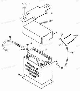 Polaris Watercraft 1997 Oem Parts Diagram For Battery Box