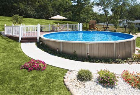 semi  ground swimming pool design plans  exterior