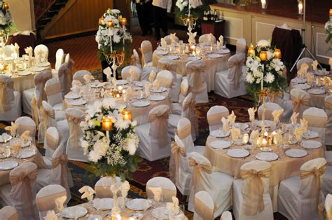 wedding tables and chairs love the gold sashes metallic wedding pinterest