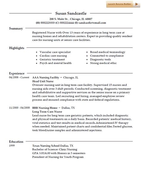 Nursing Resume Template by Resume Template Nurses Nursing Resume Nursing