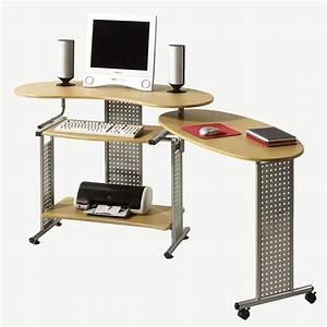 Schreibtisch Buche Nachbildung : computertisch schreibtisch mit auszug in buche nachbildung und silber ebay ~ Markanthonyermac.com Haus und Dekorationen