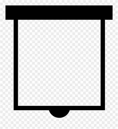 Screen Icon Clipart Projector Vectorified Clipground
