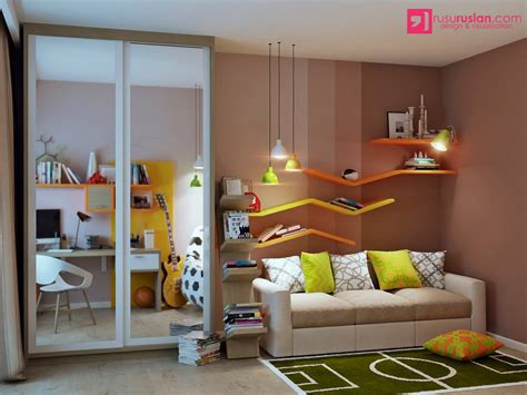 Colorful Kids Hangout Room