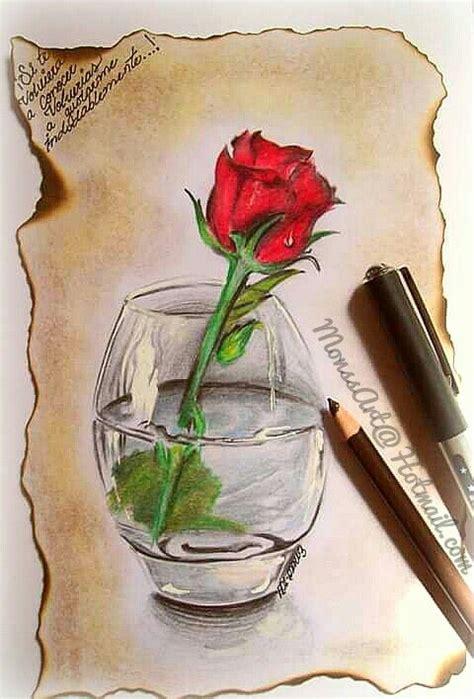 dibujo de una rosa  lapiz draw pencilcolors flower