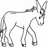 Donkey Coloring Walking Pages Animals Cartoon Kid Printable Getcoloringpages sketch template
