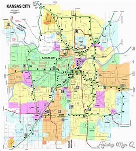 Kansas City Map | Holiday Map Q | HolidayMapQ.com