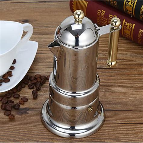 Some coffee aficionados say the secret to great stovetop espresso is starting with hot water. Moka Pot Coffee Maker Stovetop Espresso Maker Italian ...