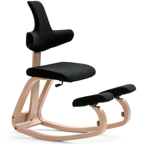 fauteuille de bureau ergonomique varier thatsit balans the original kneeling chair with back support black ebay