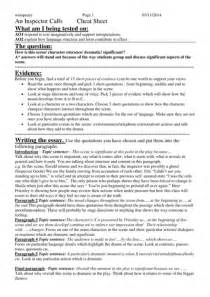 Inspector Calls Essay Template By Yvonnewinspear