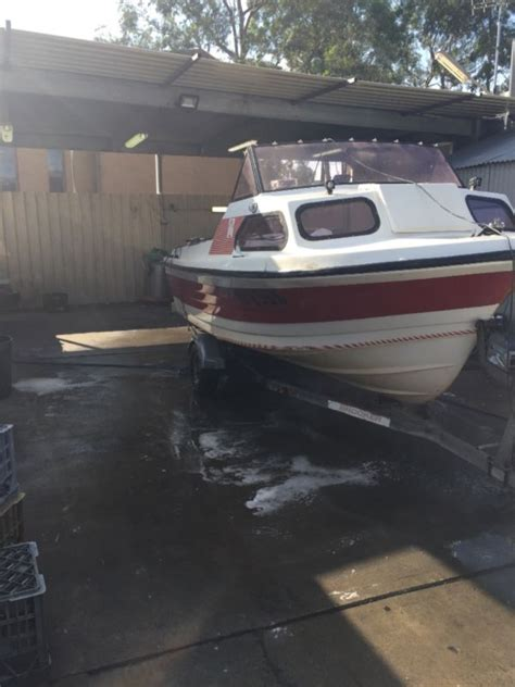 Fishing Boat Half Cabin by Half Cabin Fishing Boat Fibreglass 16ft For Sale In Australia