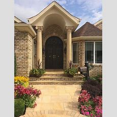 "14"" Round Columns For The Entrance Of This Beautiful Home"