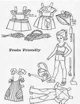 Paper Doll Friend Children Coloring Dolls Belle Result Google Boo sketch template