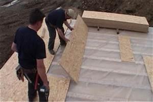 notre maison en bois un peu de technique sur les quotmob With maison toit plat bois 4 isolation pare vapeur et gazon notre maison ossature bois