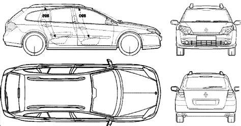 2007 renault laguna iii wagon blueprints free outlines
