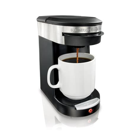 The hamilton beach contains a soft pod option that removes much of the hassle from making coffee. Shop Hamilton Beach Black Single-Serve Coffee Maker at Lowes.com