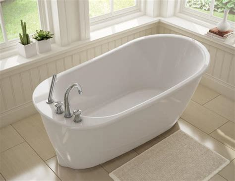 Maax Freestanding Tub by Maax 174 Sax Freestanding 60 Quot X 32 Quot Fiberglass Bathtub At