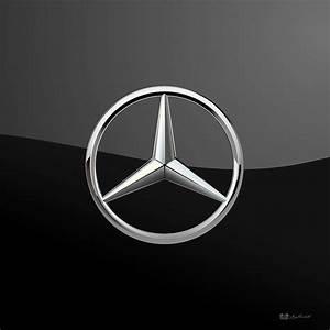 Mercedes-benz - 3d Badge On Black Digital Art by Serge