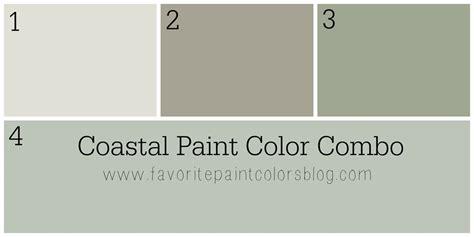 coastal paint color combination favorite paint colors