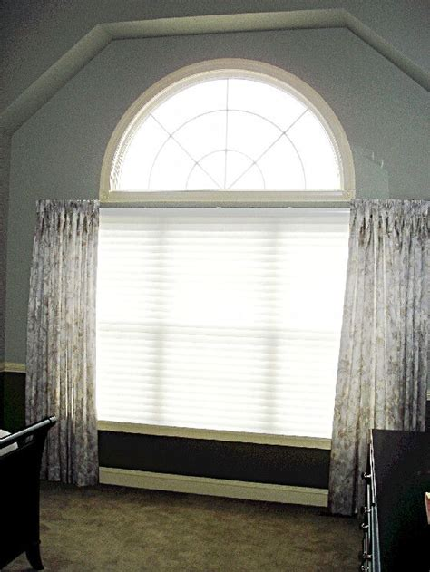 arched window treatment living room pinterest
