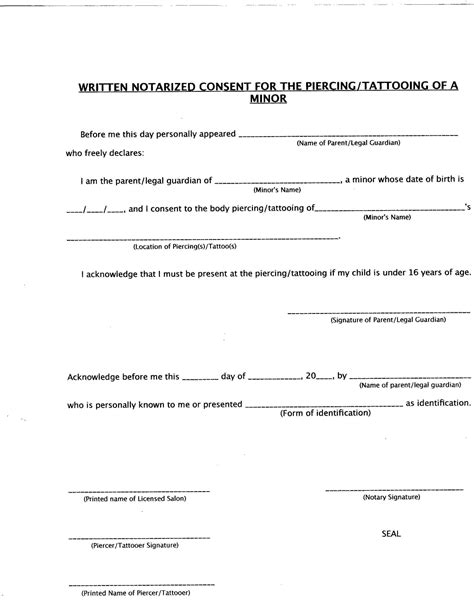 sle medical consent form for grandparents tattoo consent form