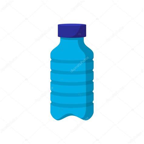Icono de dibujos animados de botella de plástico azul Archivo
