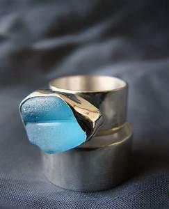sea glass designs sea glass wedding rings With glass wedding ring
