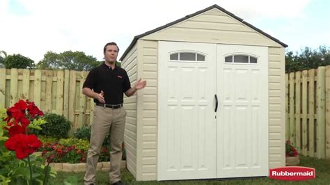 rubbermaid roughneck 7x7 storage shed rubbermaid big max outdoor storage shed