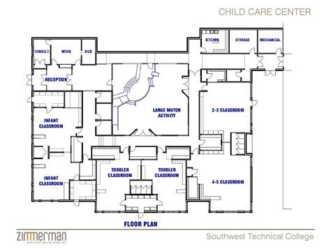 Flooring: Various Cool Daycare Floor Plans Building 2017