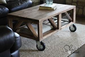 diy rustic coffee table plans – woodguides
